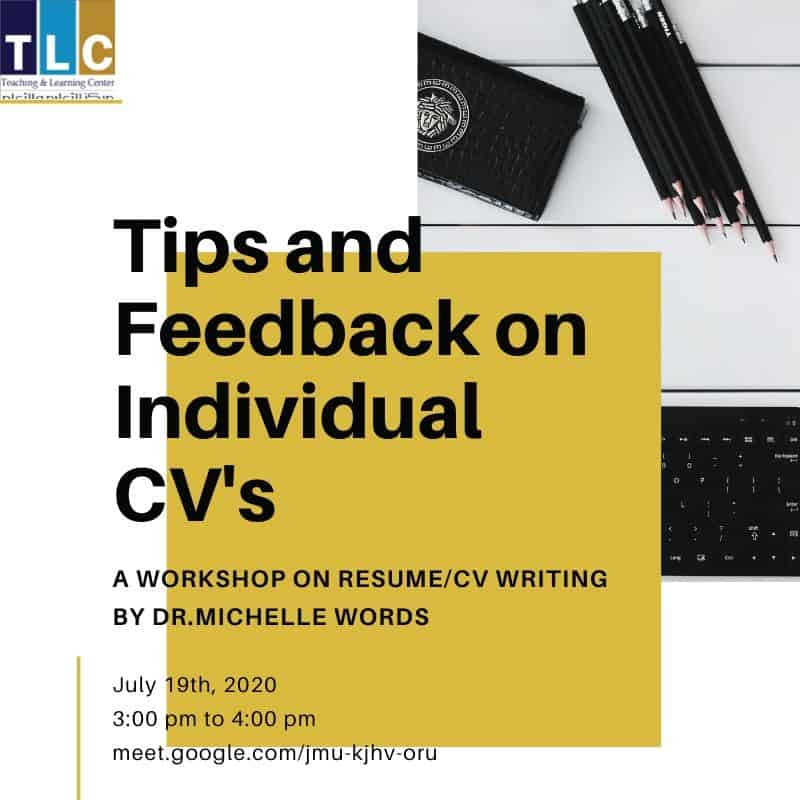 Resume/CV Writing for Business Students--Tips and feedback on individual CV's