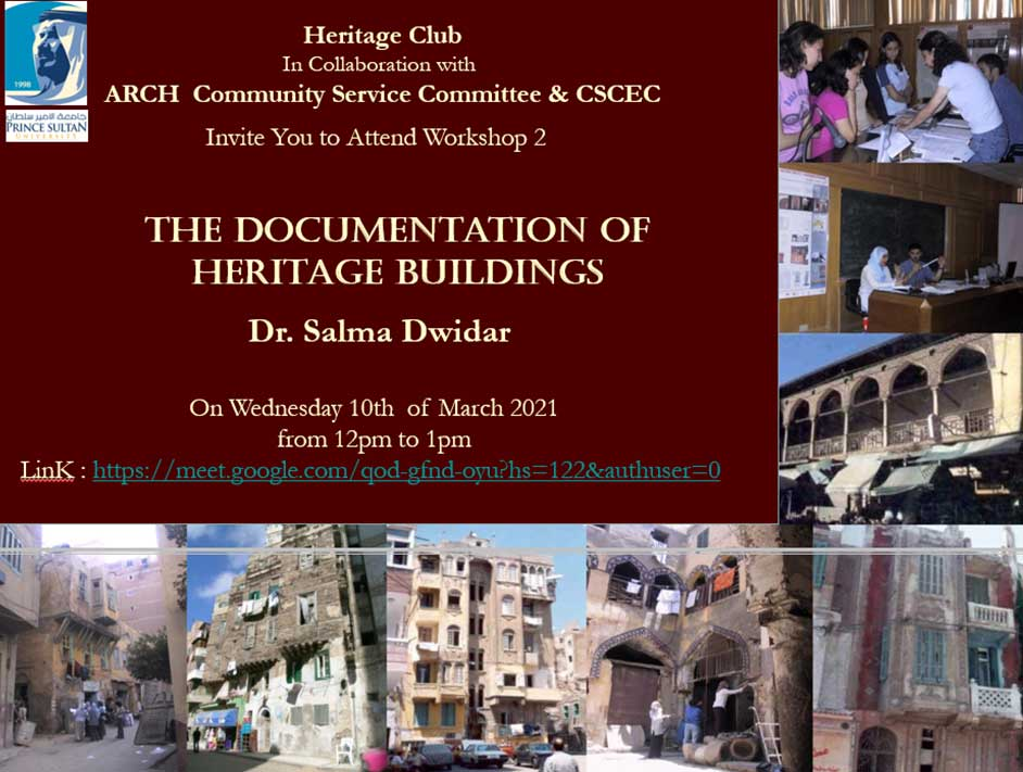 The Documentation of Heritage buildings