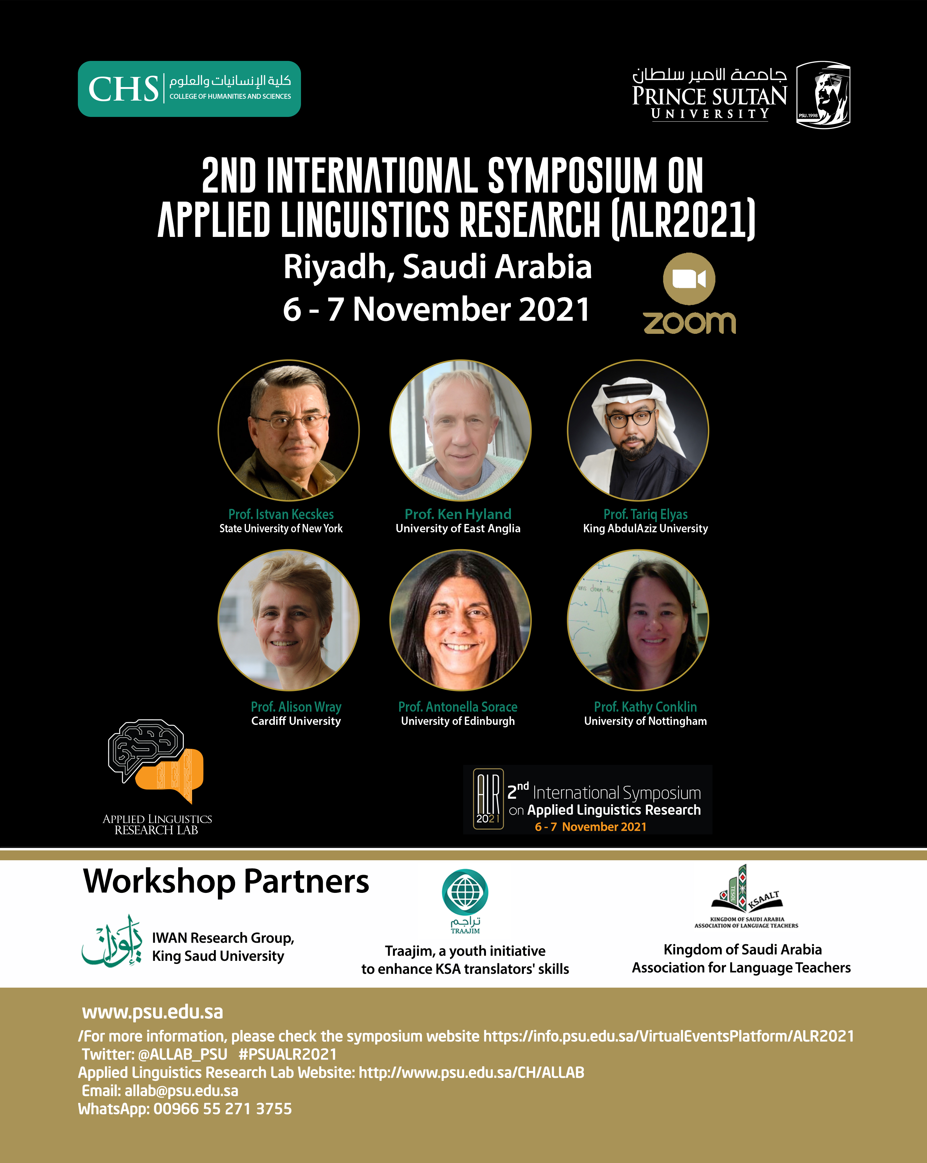 Second International Symposium on Applied Linguistics Research (ALR2021)