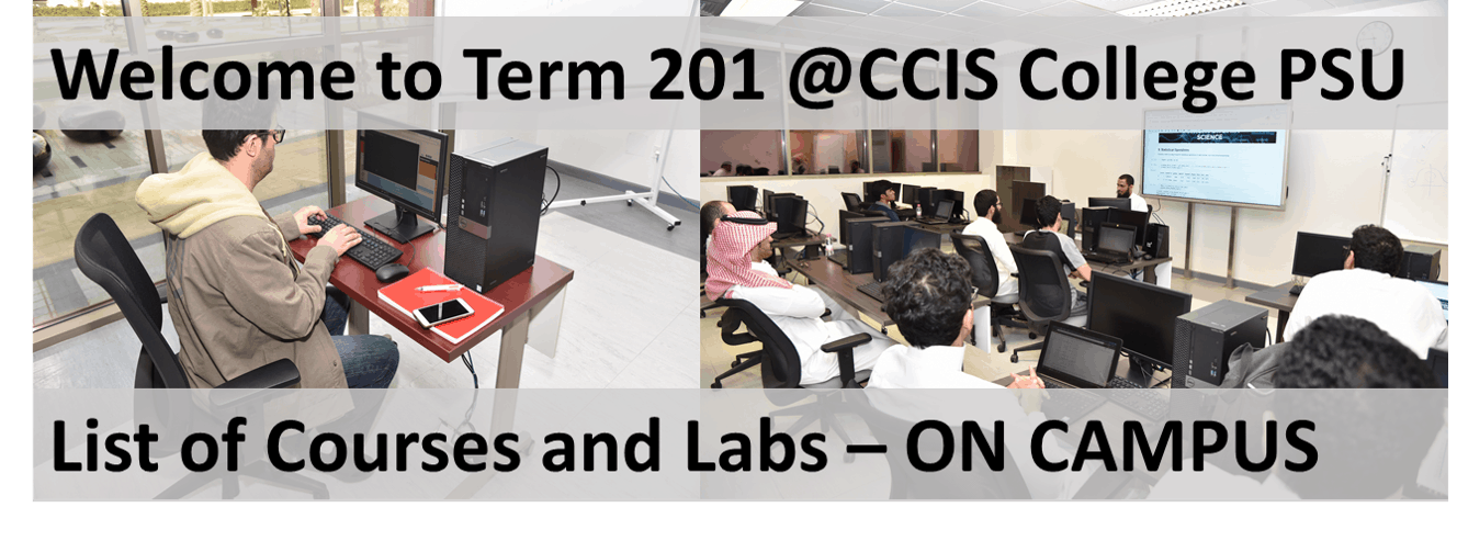 CCIS - Term 201 on Campus Courses and Labs